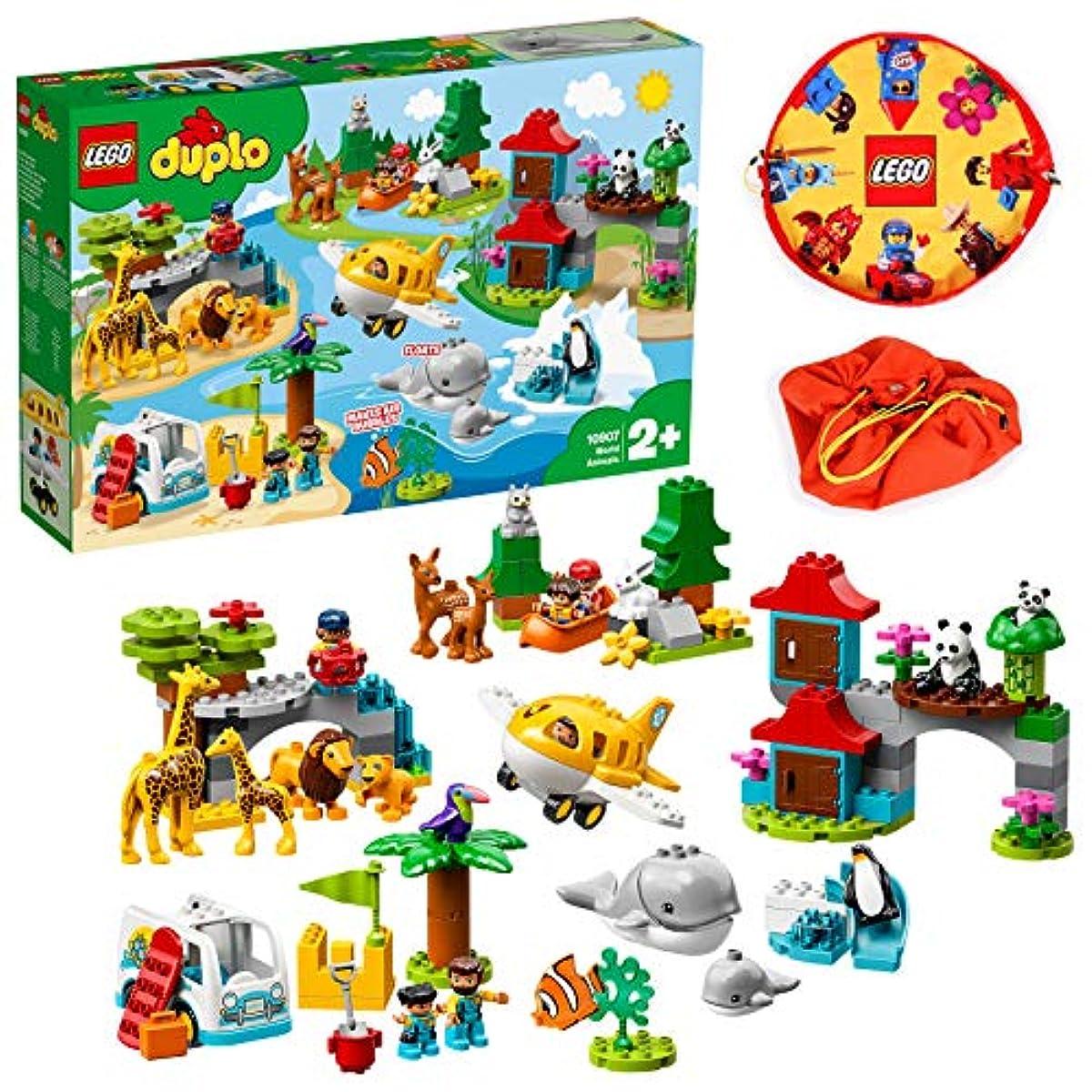 [해외] LEGO 듀플로 세계의 동물 세계일주 탐험&레고 플레이 매트 스페셜 세트