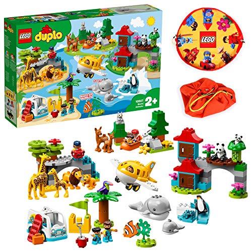 LEGO 듀플로 세계 동물 세계 일주 탐험 10907 교육 완구 블록  단품 / 세계 동물 세계 일주 탐험 & 레고 플레이 매트 스페셜 세트