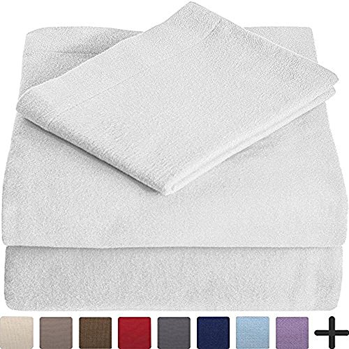 100% Cotton Velvet Flannel Sheet Set - Extra Soft Heavyweigh