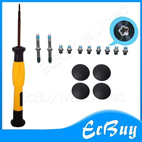 no Rubber Brand New Plastic Bottom Case Cover Feet Foot Kit+screw Set+tool For Macbook Air 13 A1369 A1466 2010-2018 Years