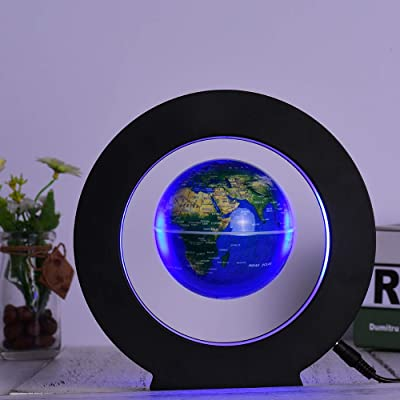 Entweg Magnetic Levitation Floating Globe 3.5 Inch Anti Gravity with LED Light for Home Office Desk Decoration Children Educational Gift