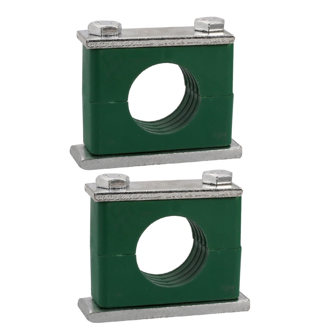 uxcell 42mm Fitting Dia Polypropylene Aluminum Heavy Series Hose Pipe Tube Clamp 2pcs