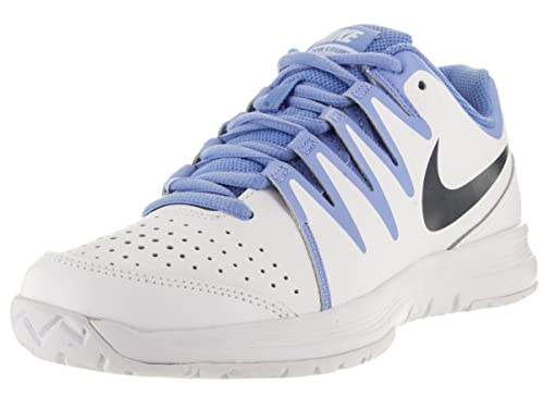 Nike Women's Vapor Court White/Obsidian/Chalk Blue Tennis Shoe 9 Women US