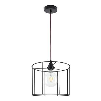 Lampe Fahrwerksfeder Lampenschirm Zylinder A Draht Schwarz Wahlen