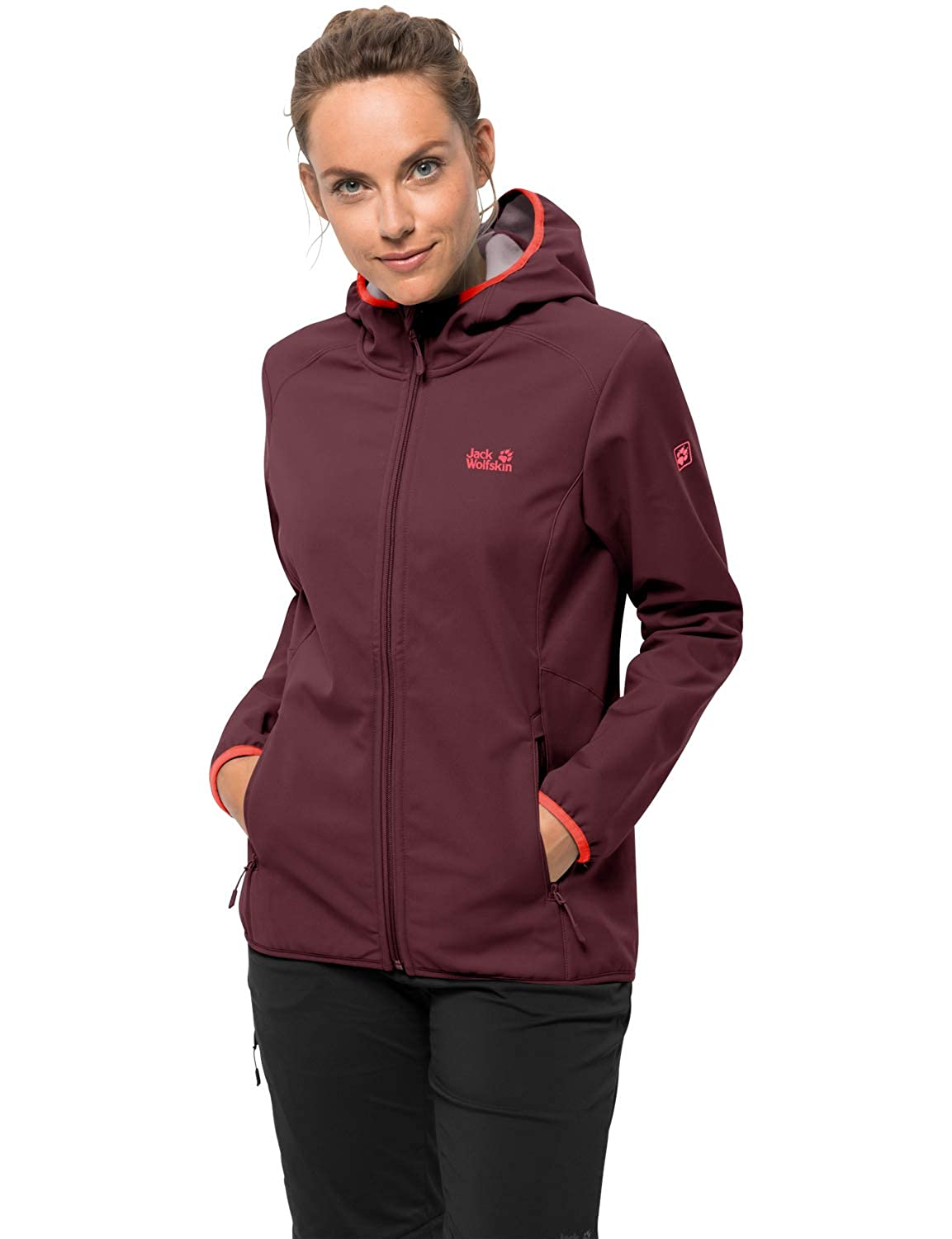 Fall rouge M Jack Wolfskin Northern Point Veste Softshell pour Femme