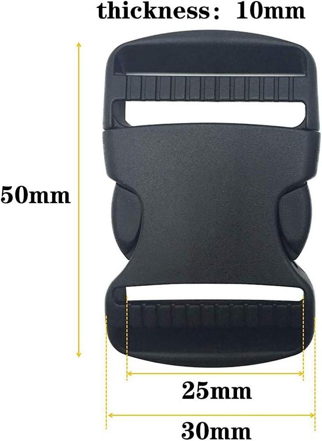 Schwarz Kunststoff Schnallen-Clips 25 mm 10 Paar Tri-Glide Slides f/ür Rucksackreparaturzubeh/ör