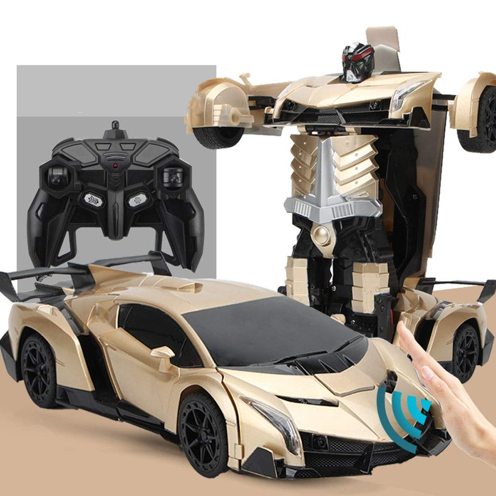 gold 3 batteries GLBS Sense Remote Control Car Toy RC Car Remote Control Truck Rechargeable Safe & Durable 2.4 GHz High Speed Race Car Radio Control Toys for Kids Toy Gift for Kids