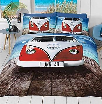 Fotografische Wohnmobil Doppelbett Bettwäsche 2 Kissenbezug Set