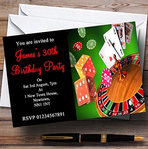 Casino Personalized Party Invitations ()