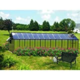 Monticello Greenhouse Mojave, 8′ x 24′, Black Finish