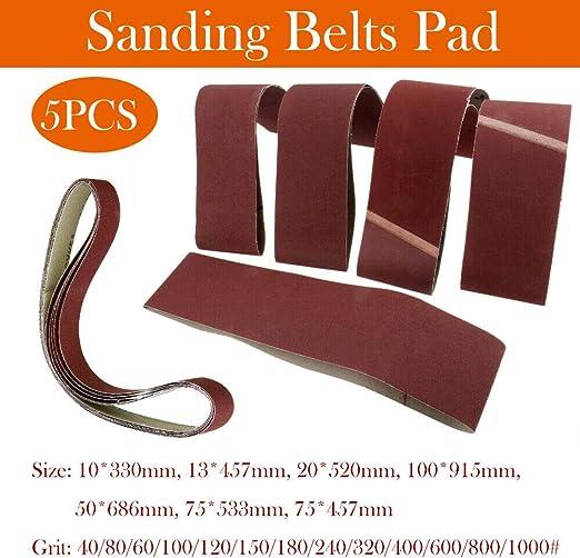 grain 60/ Lot de 10/bandes abrasives 75/x 533 /Tissu pour ponceuse /à bande//Papier abrasif//bandes abrasives