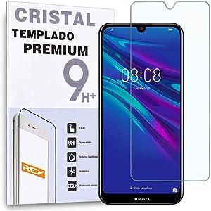Protector de Pantalla para Huawei Y6 2019 - Y6 Pro 2019 - Honor Play 8A - Enjoy 9E, Cristal Vidrio Templado Premium