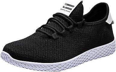 Zapatos para Correr Hombre,ZARLLE Zapatos Deportivos,Calzado Transpirable, Zapatillas de Running,Zapatos para Correr en montaña Asfalto al Aire Libre,Rojo Blanco Negro: Amazon.es: Ropa y accesorios