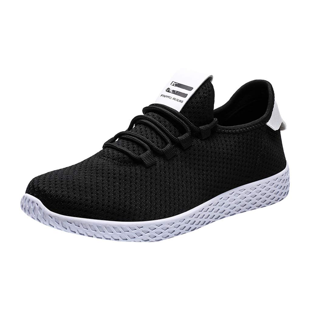 Men's Mesh Sneakers - Comfort Lightweight Breathable Woven Casual Slip-on Fashion Sport Running Shoes