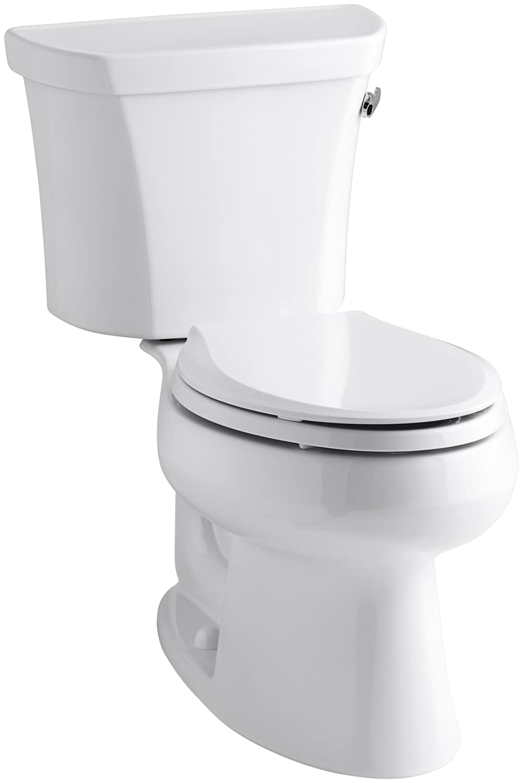 Kohler K-3978-TR-0 Wellworth Elongated 1.6 gpf Toilet Tank Locks White Right-Hand Trip Lever