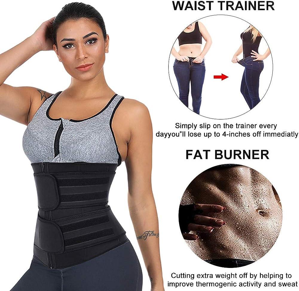Joyshaper Neoprene Thigh Slimmer for Women for Weight Loss High Waist Compresion Wrap Support 3-in-1 Waist Trimmer Trainer Belt with Pocket Cincher Butt Lifter Shaper Workout Fitness
