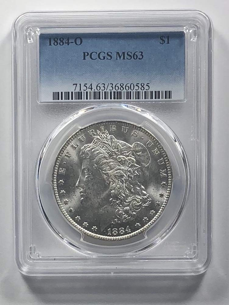 PCGS MS63 1884-O US Morgan Silver Dollar $1