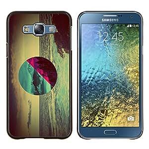 Geometría Ocean Forest- Metal de aluminio y de plástico duro Caja del teléfono - Negro - Samsung Galaxy E7 / SM-E700