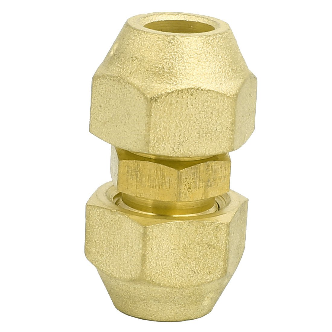 sourcingmap/® 3//8BSP Double Brass Flare Nut Air Conditioner Part Fitting for 3//8-inch Dia Pipe
