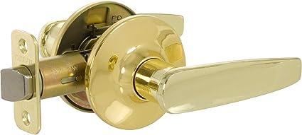 Callan 501t Ah Asheville Passage Door Lever Set Polished Brass Door Levers Amazon Com