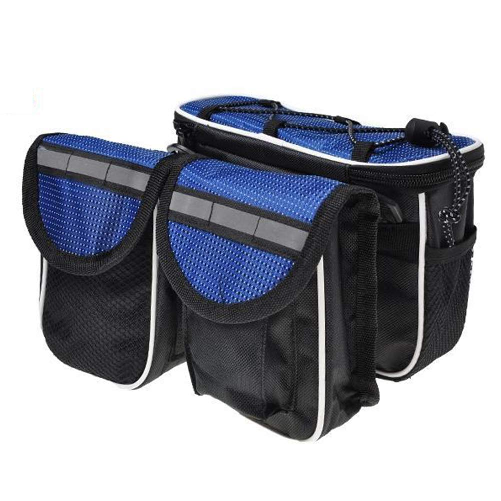 bluee Bicycle Bags Front Tube Frame Suitable for Outdoor Road Cycling Mountain Bike Equipment