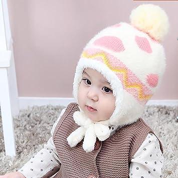 YINGER Sombrero de bebé Chico Niña Encantador Calentar Invierno con Lindo  diseño Gorra Suave para 1-2 años de Edad 4443a05022c