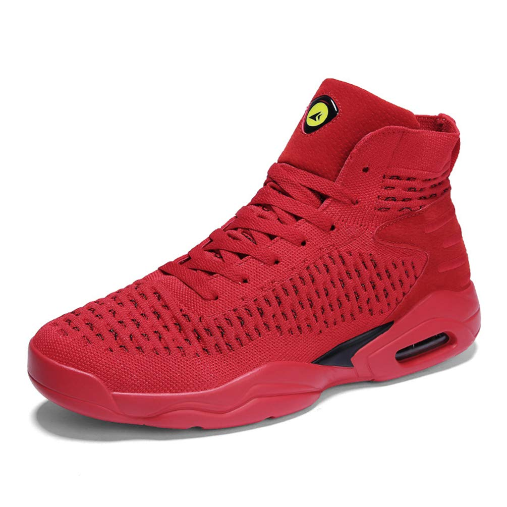Homme Chaussure de Basket-Ball en Textile Respirant Léger Chaussure de Course Jogging Running de Coussin Bulle Antichoc Antidérapant Sneaker Résistant à l'usure 39-44