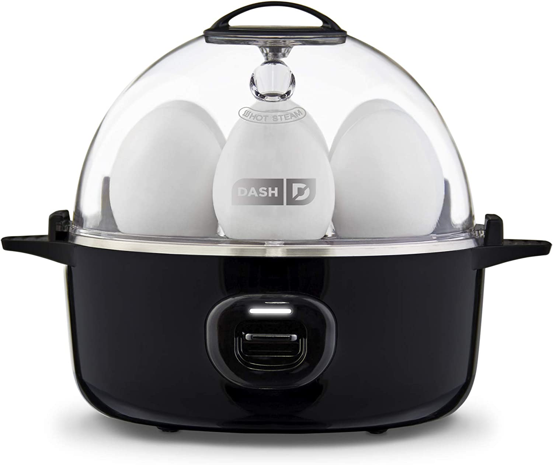 DASH Express Electric Egg Cooker, 7, Black