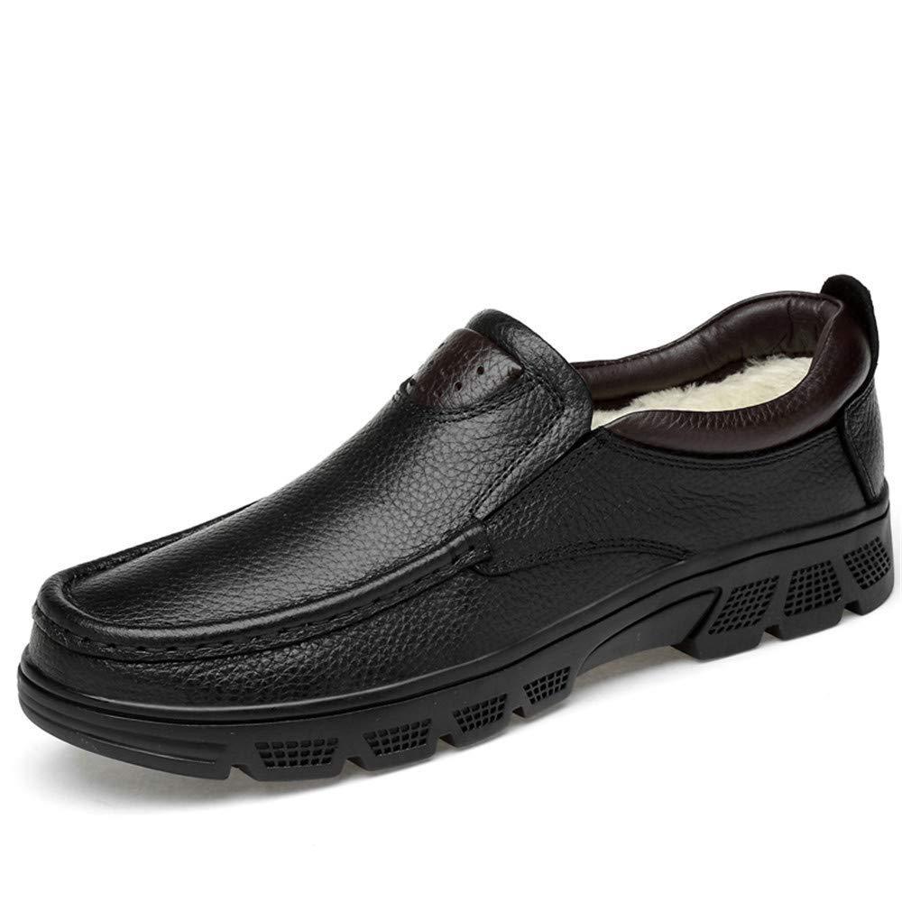 2018 Herrenmode Oxford Schuhe, Casual klassischen niedrigen oberen Bequeme große Formale Schuhe (warme Velvet optional) (Farbe   Warm schwarz, Größe   46 EU) (Farbe   Warm schwarz, Größe   47 EU)