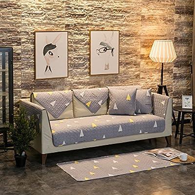 J&dSU Funda para sofá Tela Algodón Antideslizante Cubierta del sofá Elegante Resistentes a Las Manchas Escudo Cubre 1 2 3 Sofá 4,Máquina Lavable,Vendido por 1 Pieza-A 110x180cm(43x71inch): Amazon.es: Hogar