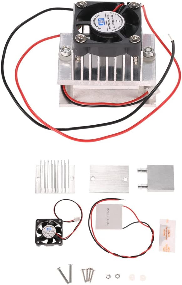 KKmoon DIY Kit Thermoelectric Peltier Cooler Refrigeration Cooling System Heat Sink Conduction Module + Fan + TEC1-12706