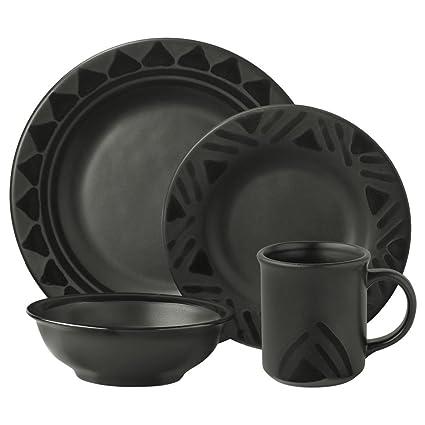 Amazon.com | Pfaltzgraff Midnight Sun Dinnerware Set (16 Piece ...
