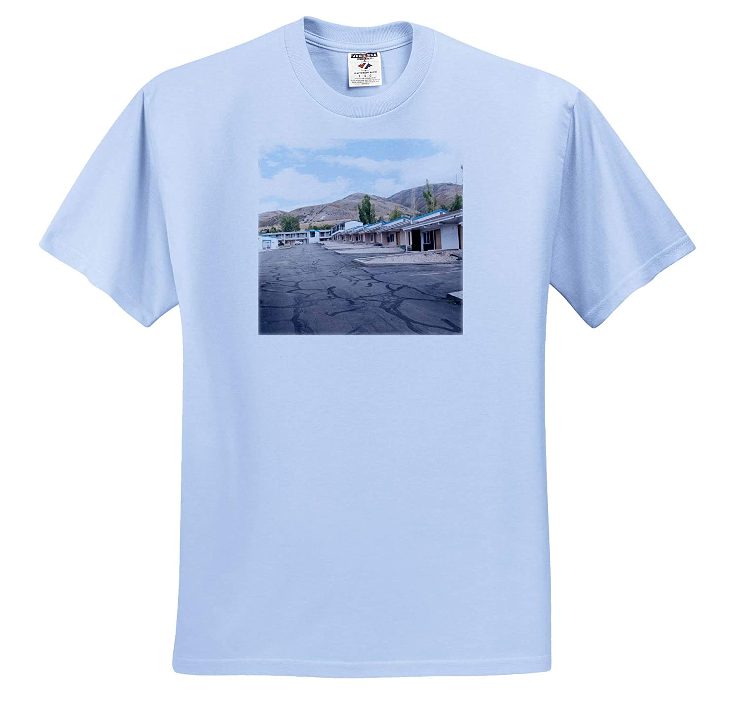 ts/_320073 A Hotel in Brigham City Utah All on Ground Level 3dRose Jos Fauxtographee- Motel Adult T-Shirt XL
