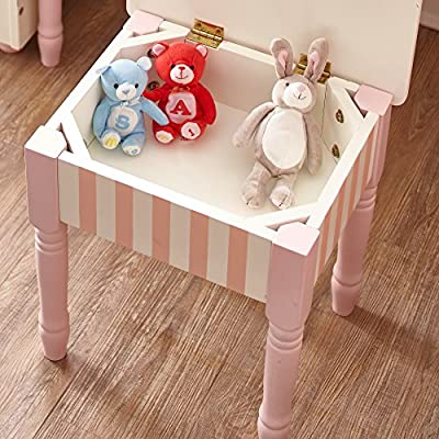 Fantasy Fields - Bouquet Thematic Kids Vanity Stool | Imagination Inspiring Hand Crafted & Hand Painted Details   Non-Toxic, Lead Free Water-based Paint: Toys & Games
