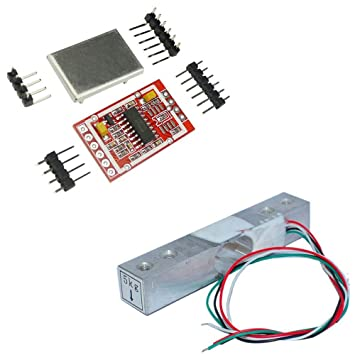 Aihasd 5KG Celda de Carga Digital Sensor de Peso Portátil Escala electrónica de la Cocina + HX711 AD Sensores Módulo de pesaje Escudo de Metal para Arduino: ...