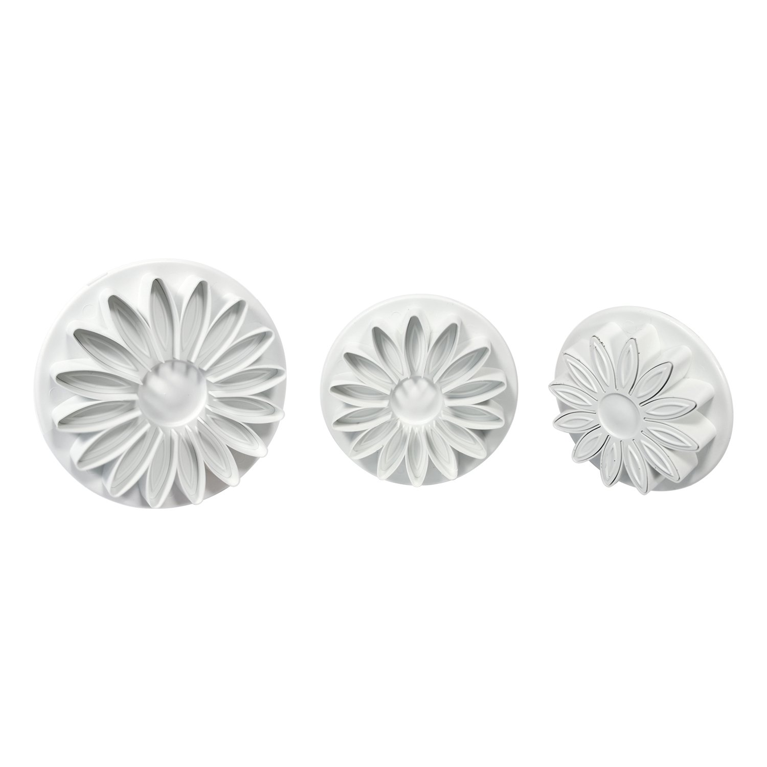 PME Plunger Cutters, Veined Sunflower Daisy and Gerbera, 3-Pack by PME