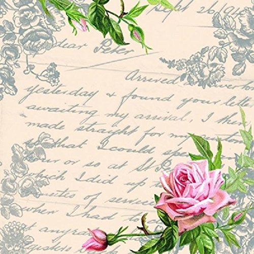 4 X Paper Napkins Love Letter Ideal For Decoupage