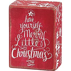 Primitives by Kathy Box Sign - Have Yourself a Merry Little Christmas