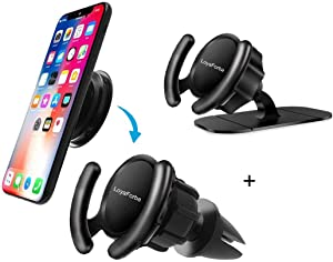 Pop Clip Car Mount Compatible Pop Users - LoyaForba 360° Rotation Air Vent Pop Out Stand and Dashboard Sticker Holder for GPS Navigation Compatible with Phone MAX/X/8, Note 8/S9+