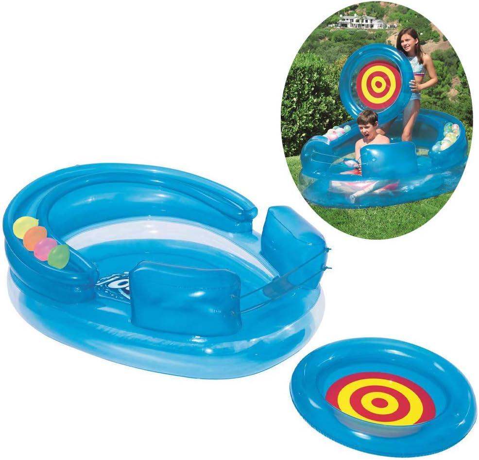 YAOXI Niños Juegos Remar Quinielas, Al Aire Libre Multifunción Nadando Piscina Niños Agua Lucha Cañón Inflable Piscina Oceano Pelota 3-10 Años Antiguo,Azul