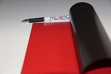 10 Stück Magnetfolie DIN A4 Magnetband Orange PVC-beschichtet Matt bedruckbar