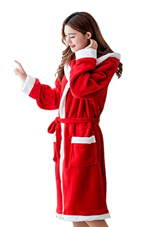 kid get new top-rated cheap Amazon.com: Unisex Womens Christmas Flannel Hooded Dressing ...