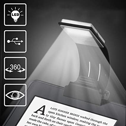 Clip-on Led Reading Light Lamp Flexible Arm E-reader Bookmark Light Lamps, Lighting Lamps: Electric