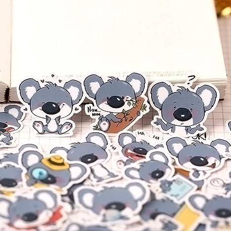 JIANGGUOMIN 40 Piezas Lindo Animal Koala forraje Pegatinas