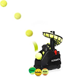 SCIFANTA Portable Tennis Ball Tosser(3.7lb) for Self-Play|Ball Launcher Beginners/Kids/Coaches/Home-Court|Accurate&Efficient Feed Buddy for All-Levels/Ages|AC&Battery Powered