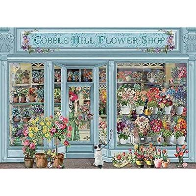 Cobble Hill Puzzles Parisian Flowers 1000 Piece Flowers & Gardens Jigsaw Puzzle: Toys & Games