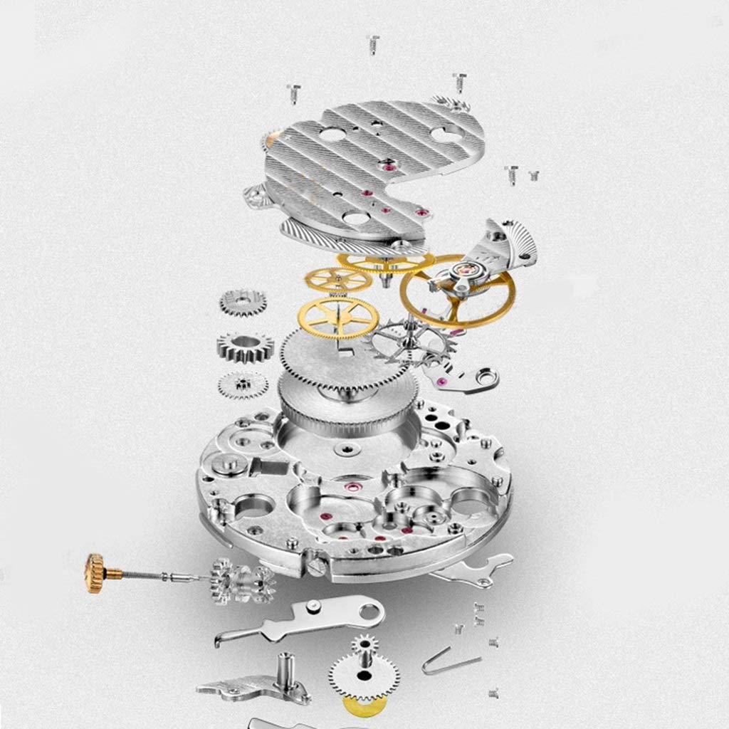 CARNIVAL herrklocka, vattenresistens armbandsur mode multifunktion automatiska mekaniska klockor med kalender/månadsfas display 8705G Silver Black 1