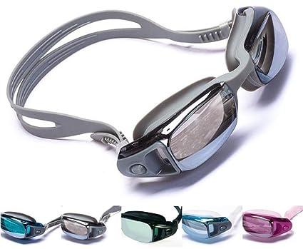 30d250f4f9 Amazon.com   Aguaphile Mirrored Swim Goggles Soft and Comfortable -  Anti-Fog UV Protection