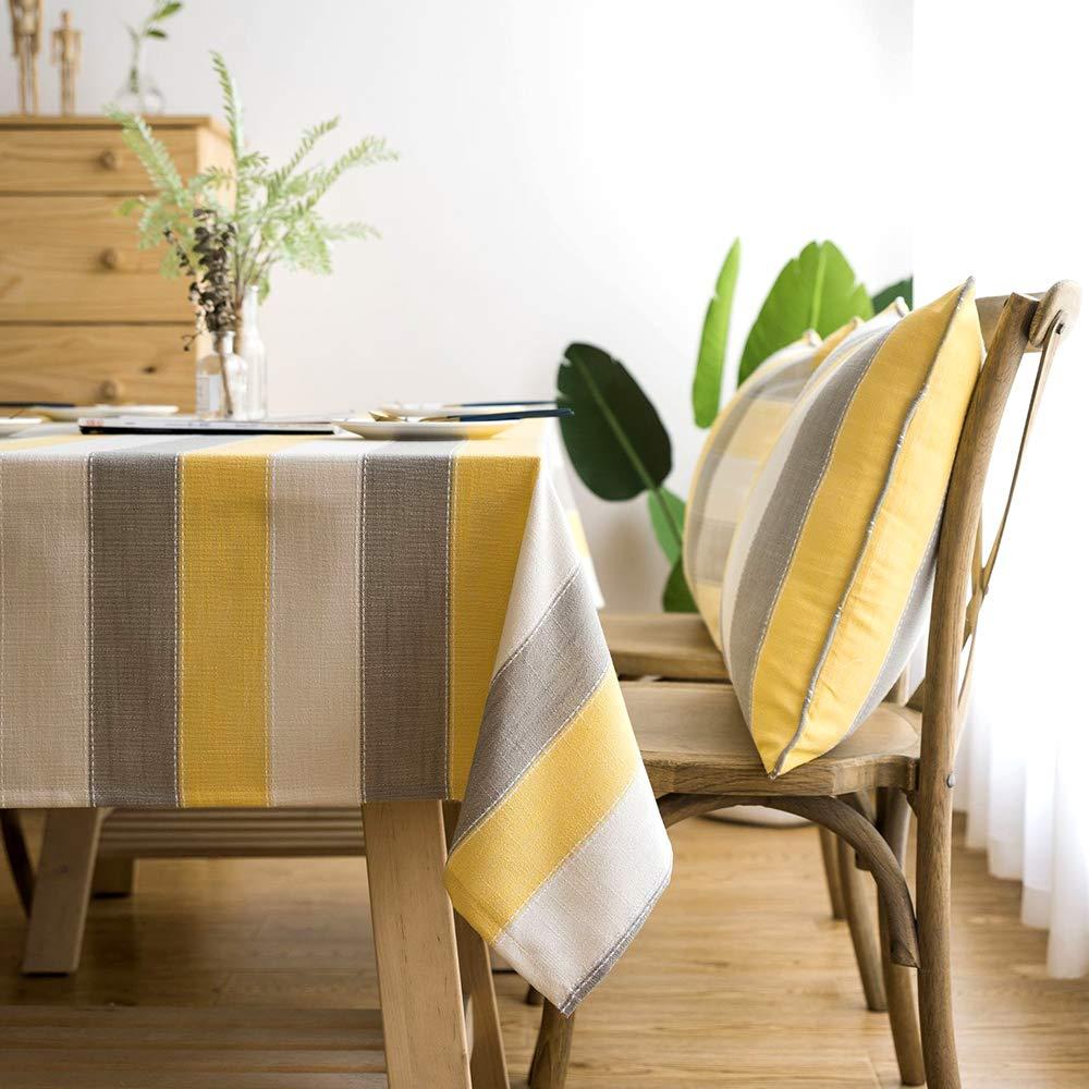 ZAMAC Mantel Mesa Cuadrado para Cocina Sal/ón Decoraci/ón Estampado Manteles Impermeable Lavable Amarillo 60x60cm