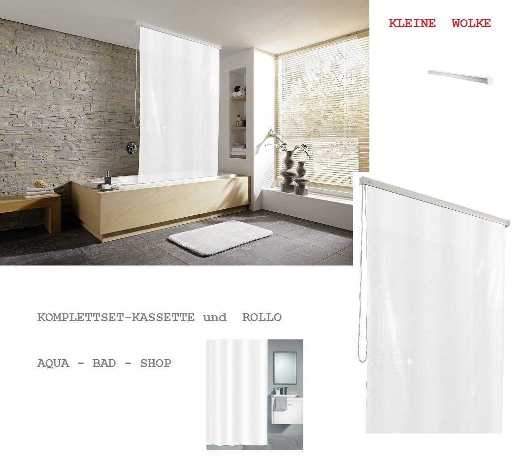 Kleine Wolke - Cortina de ducha enrollable 128 cm Diseño 12 ...